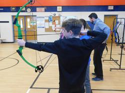 Archery is starting in phys. ed. class...