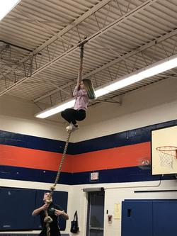 Rope Climbing in Fitness Class